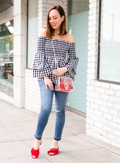 All about gingham for Spring! See how to wear the trend over on the blog with JCPenney. The season's best trends are #AllAtJCP #ad