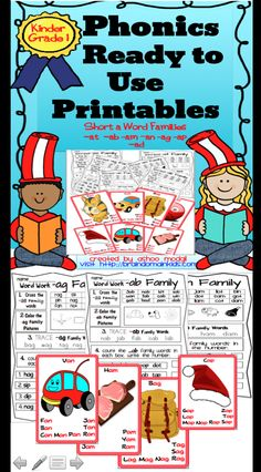 Phonics Ready to Use Printables: Short /a/ Word Families is a time saver for teachers and is great for Common Core Practice to decode seven Short Vowel /a/ Word Families. It includes 7 worksheets and 7 colorful adorable Anchor Charts. Each worksheet includes: -Cross the CVC word for each word family - Colour the Picture for each word family - Trace the CVC words for each word family - Count and Write the number of words for each word family.