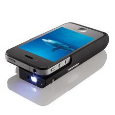 Though it's not the only portable projector on the market, Brookstone's Pocket Projector for iPhone 4 seems to be one of the more elegant options for portable large-format viewing.