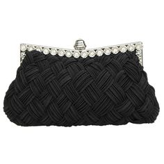 Garden Promo Bridal Bridesmaid Wallet Womens Handbag Wedding Evening Braided Rhinestone Purse Clutch * Additional details at the pin image, click it