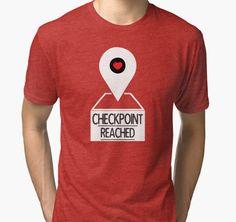 'Checkpoint Reached (Love)' Tri-blend T-Shirt by Black-Fox Fox, V Neck, Mens Tops, T Shirt, Stuff To Buy, Black, Women, Fashion, Supreme T Shirt