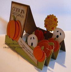 Pumpkin step card sideview