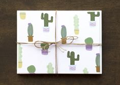 Cactus Stationary & cards. Flat blank notecard set with potted cactus plants on pale pink background. Each card measures 5.5 x 4 and is printed on heavyweight recycled matte paper.  Each set includes 8 notecards and envelopes.