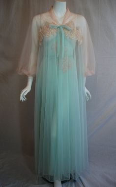 1950s Gotham Peignoir Set, 32 Small, Full length nightgown and matching robe, New Old Stock and absolutely gorgeous!!