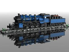 LEGO MOC: Bavarian steam engine in 7 width - # 7 # Bavarian # wide # steam engine - Genevieve Terry Lego Moc, Lego Minecraft, Lego Modular, Lego Design, Lego Technic, Lego Batman, Pokemon Lego, Modele Lego, Amazing Lego Creations