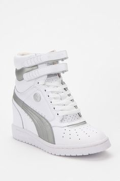 Gotta pair for my daughter, she loves them! Mecca-Boo Ummi loves you.  Puma Hidden Wedge High-Top Sneaker  #UrbanOutfitters