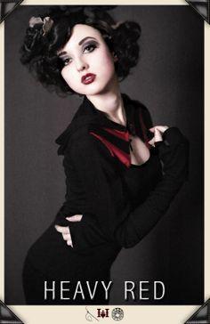 Love's Arbiter Hoodie by Heavy Red. http://www.heavyred.com/LOVE-S-ARBITER-HOODIE-p/2420.htm  #gothicclothing #gothichoodie ##gothicfashion #valentines #noir