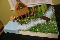 Fondant house for competition