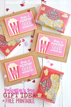 Poppin & # Idea regalo Good Valentine& Day w / stampabile gratuitamente Kinder Valentines, Valentines Day Food, Valentine Box, Valentine Day Crafts, Valentines Ideas For School, Free Printable Valentines, Valentine Gifts For Teachers, Homemade Valentines, Printable Crafts