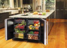 Modern Rectangular Kitchen Island Design
