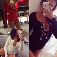 27.99$  Buy here - http://viouu.justgood.pw/vig/item.php?t=cf9txk544116 - KAYWIDE S-XL Sexy Deep V Neck Lace Up Rompers Womens Jumpsuit New Bodycon Long