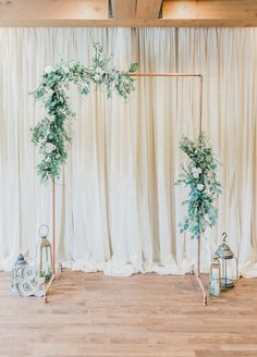Copper wedding arch