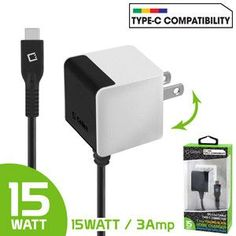 USB Type-C Wall Charger, (Rapid, 3Amps)