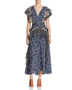 390.00$  Watch here - http://vimiu.justgood.pw/vig/item.php?t=st93k0r12673 - Rebecca Taylor Multi Floral Silk Dress
