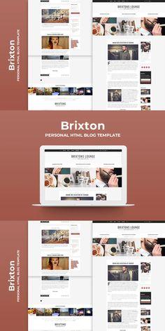 Brixton - Minimal & Personal HTML Blog Template Html Website Templates, Brixton, Minimalism, Blog, Blogging