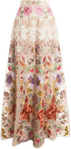 Temperley London Baudelaire Skirt in White (ivory)