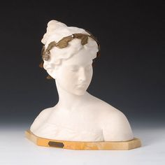 "An Italian carved Bust entitled ""Allegorie der Poesie"" - Florence Late 19th Century by Professor Antonio Garella (1863-1919) Allegorical – Laurel Wreath – Marble base Kunsthandel von Seckendorff - www.kunsthandel-seckendorff.de Come and see for yourself at the Bamberg Arts and Anitque Fair 2016 www.bamberger-antiquitaeten.de"