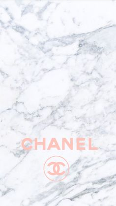 Pink Chanel logo marble iphone background