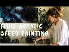 Fluid Acrylic Speed Painting | Hiraeth - YouTube