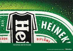 Always love simplicity...     Heineken: Rugby Shirt