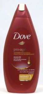 Dove Pro-age Nourishing Shower Cream with Sunflower & Olive Oil, 500 Ml / 16.9 Oz (Pack of 3) Non English Label by Dove. $15.89. Nourishing Shower Cream For A Vital, Radiant Skin. Contains Nutrium Moisture - Our Unique Combination Of Hydrating Ingredients. With Sunflower And Olive Oil Rich In Nourishing Lipids. Nourishes And Cleans The Skin For A Vital, Radiant Skin. Dove Pro Age Shower Cream Feed And Cleans The Skin For A Vital, Radiant Skin. It Contains: Nutrium...
