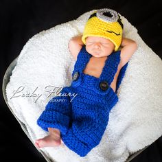 Hey, I found this really awesome Etsy listing at https://www.etsy.com/listing/163752227/minion-hat-newborn-pants-photo-prop