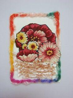 Lin Handmade Greetings Card: Artist Trading Cards. Art on Canvas ATC