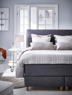 Texas Rustic Furniture Home Furniture Livingroom Product Ikea Bedroom, Small Room Bedroom, Home Decor Bedroom, Luxury Home Furniture, Living Room Furniture, Rustic Furniture, Outdoor Furniture, Grey Bed Frame, Bedside Table Design