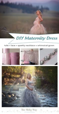 SUPER simple tutorial to make your own Maternity Dress for photography sessions! TheMilkyWay.ca