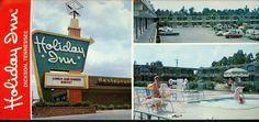Tennessee TN Oversized postcard Holiday Inn Hotel Dickson Multi View