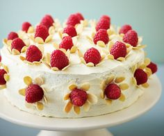Vanilla and White Chocolate Cake with Almond Flowers | News | Lorraine Pascale