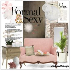 A Touch Of Pink by addicted2design on Polyvore featuring polyvore interior interiors interior design home home decor interior decorating Dot & Bo Pier 1 Imports Graham & Brown DENY Designs