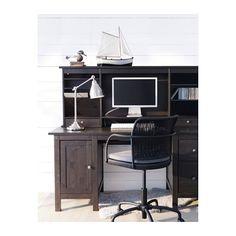 HEMNES Schreibtisch mit Aufsatz - schwarzbraun - IKEA