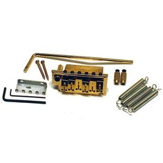 Ant Hill Music Stratocaster Guitar Style 2 Point Guitar Bridge w/Hardware Gold