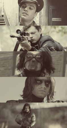 Bucky Barnes || Winter Soldier  Captain America: The First Avenger (2011)  Captain America: The Winter Soldier (2014)