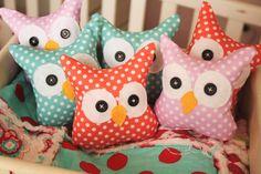 Six pack of Mini Owls by EmilyAnnsKloset on Etsy, $25.00