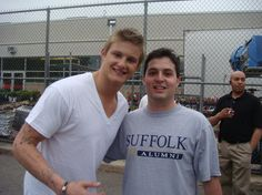 Alexander Ludwig Poses with Fan on the set of Grown Ups 2