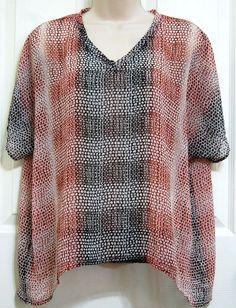 3f9d7adaf5e5b Cabi #240 Sheer Cover Up Tee Brown Ombre Size XXS Spring 2015