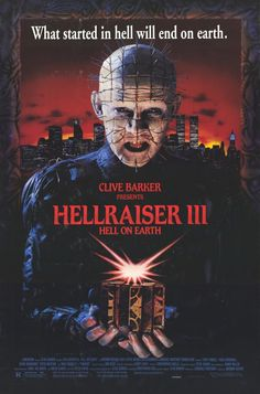 Hellraiser III: Hell on Earth , starring Terry Farrell, Doug Bradley, Kevin Bernhardt, Lawrence Mortorff. An investigative reporter must send the newly unbound Pinhead and his legions back to Hell. #Action #Comedy #Drama #Horror #War