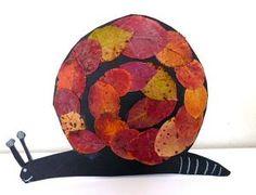 Made with leaves Autumn Crafts, Autumn Art, Summer Crafts, Art For Kids, Crafts For Kids, Arts And Crafts, Snail Art, Fall Art Projects, Jr Art