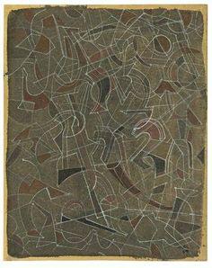 Mark Tobey (1890-1976) was een Amerikaanse schilder. Zijn gestructureerde composities, geïnspireerd door Aziatische kalligrafie, lijken abstract expressionisme. Zijn werk werd alom erkend in de Verenigde Staten en Europa