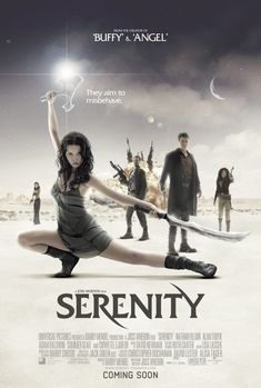 """Serenity is a 2005 space western film written and directed by Joss Whedon. It is a continuation of Whedon's 2002 SF television series Firefly and take place after the events of the final episode. Set in 2517, Serenity is the story of the captain and crew of Serenity, a """"Firefly-class"""" spaceship,  veterans of the Unification War, having fought on the losing side against the Alliance. The film stars Nathan Fillion, Alan Tudyk, Adam Baldwin, Summer Glau and Chiwetel Ejiofor."""