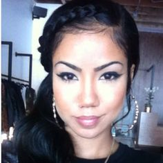 Jhene Aiko is sporting one of my goto hairstyles. New Hip Hop Beats Uploaded http://www.kidDyno.com