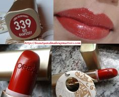 L'Oreal Color Riche Lipstick – Red Rhapsody Review, Swatches, LOTD