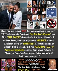 President Barack Obama and Mrs. Michelle Obama Promoting Child Abuse