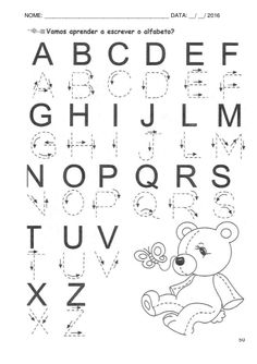1 million+ Stunning Free Images to Use Anywhere Free Printable Alphabet Worksheets, Letter Tracing Worksheets, Alphabet Tracing, Kids Math Worksheets, Handwriting Worksheets, Preschool Writing, Preschool Learning Activities, Alphabet Activities, Phonics