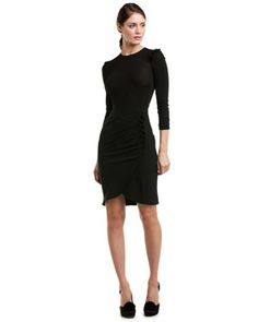 Winter Dress Picks: LBD by Miu Miu   Pair with a unique color/necklace and a hat from http://www.fashionattheraces.com/store/