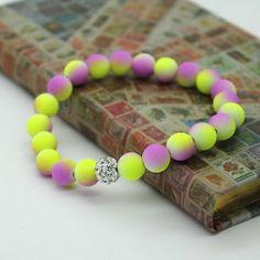 Women Bracelets Bangles 8mm Fluorescent Neon Infinity Cheap Bracelet! Stretch Charm Jewelry #Womenbracelets