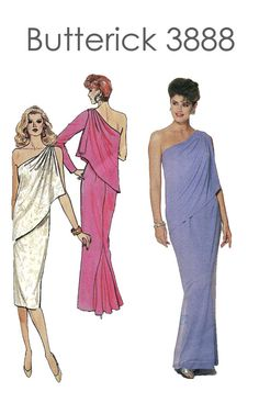 Vintage 1980s Butterick 3888 Evening by DesignRewindFashions, $18.00