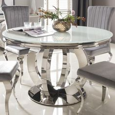 White Round Dining Room Table Beautiful Orion Mirrored Round Dining Table With W Beautifu Round Dining Room Table Glass Dining Table Glass Dining Room Table